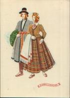 LATVIAN NATIONAL COSTUMES ZIEMEL VIDZEME - Lettonia
