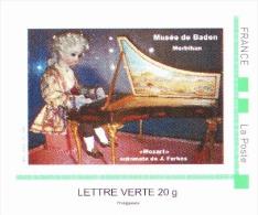 MOZART - Timbramoi Adhésif - Automate De Jean Farkas + 1 Carte Postale Automate Cycliste - France