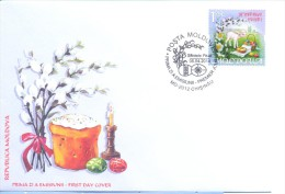 2014. Moldova, Easter, FDC With Set,mint/** - Easter