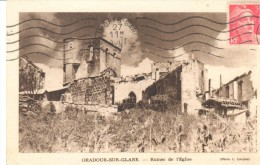 POSTAL   ORADOUR-SUR-GLANE   -FRANCIA-  RUINAS DE LA IGLESIA-  (FOTO L- LAVAUX) - Oradour Sur Glane