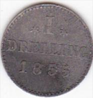 ETATS ALLEMAND / HAMBURG. 1 DREILING 1855 - Monedas Pequeñas & Otras Subdivisiones