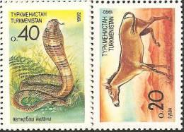 Turkmenistan  1992  MNH**  -  Yv. 8+9+10/11+12 - Turkmenistan