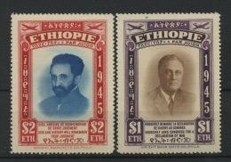 ETHIOPIE   Air 21/22 **   Cote 50 €  Hailie Selassié Et Président Rooseveld - Ethiopie