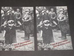 2 CP - PAS DE PRESCRIPTION POUR LES CRIMES NAZIS - Carte Adresséeà M Le Président Du Bundesrag RFA BONN - België