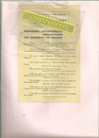 70 - Haute-saône - COUTHENANS - Facture VIENOT - Horlogerie - - 1900 – 1949