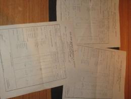 HERVE - 3 Bulletins COLLEGEMARIE THERESE - ANNEE 1891/1892 Au Nom De Julien Franck - Diplômes & Bulletins Scolaires