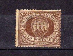 """Saint-Marin (1877)  - """"Armoiries""""  Neuf Sg - Oblitérés"""
