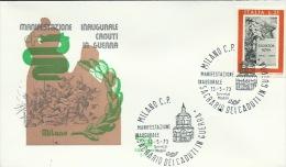 MILANO-MANIFESTAZIONE INAUGURALE  CADUTI IN  GUERRA- 13-5-1973 - Geologia