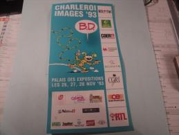 PROSPECTUS CHARLEROI IMAGES 93 AVEC LE MARSUPILAMI SALON DE BANDE DESSINEES ET LIVRE POUR ENFANTS. - Livres, BD, Revues