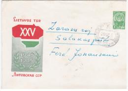 Lithuania USSR 1965 25th Anniv Of Lithuanian Soviet Republic, Canceled In Bagaslaviskis & Salakas - Lituanie