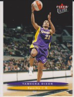WNBA 2003 Fleer Card TAMECKA DIXON Women Basketball LOS ANGELES SPARKS - Trading Cards