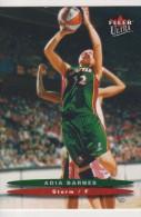 WNBA 2003 Fleer Card ADIA BARNES Women Basketball SEATTLE STORM - Trading Cards