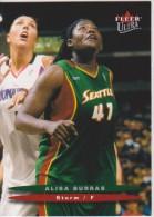 WNBA 2003 Fleer Card ALISA BURRAS Women Basketball SEATTLE STORM - Trading Cards