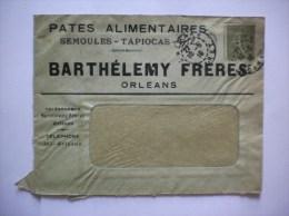ORLEANS BARTHELEMY FRERES PATES ALIMENTAIRES SEMOULES TAPIOCAS RIZ ENVELOPPE DU 22/5/19 - Alimentaire