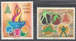 1980  Alg. N° 714   à  715  Nf**.  Jeux Olympiques De Moscou . - Verano 1980: Moscu