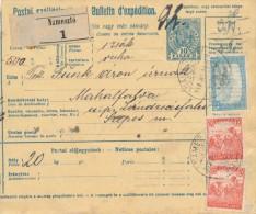 I0748 - Hungary (1918) Nameszto / Landzsasötfalu (postal Parcel Dispatch Note) - Cartas