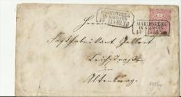 =DE  CV 1869 MARIENBERG - Norddeutscher Postbezirk (Confederazione Germ. Del Nord)