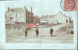 02 - Carte Photo Vue De Boncourt - Calvaire - La Place Et Le Château  1905 - Altri Comuni