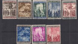 VATICANO 1949 ANNO SANTO SASS. 132-139 USATA VF - Usati
