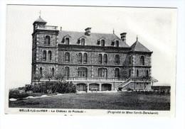 Cp , 56 , BELLE ILE EN MER  , Le Château De Penhöet , Propriété De Mme Sarah Bernhardt , Vierge , 2 Scans - Belle Ile En Mer