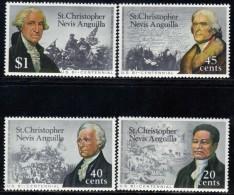 St Christopher Nevis Anguila Yvertnrs: 334/37 Postfris - St.Kitts-et-Nevis ( 1983-...)