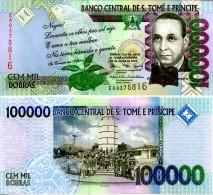SAINT THOMAS & PRINCE P. 69a 100000 DOBRAS 2005 UNC - Sao Tome And Principe