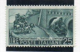 Sello Nº 724  Italia - Treni