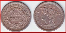 **** USA - UNITED STATES - ETATS-UNIS  - ONE CENT 1851 - 1 CENT 1851 BRAIDED HAIR LARGE CENT **** EN ACHAT IMMEDIAT !!! - Emissioni Federali