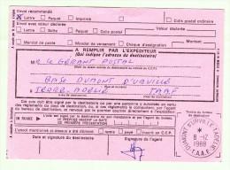 Antarctique - TAAF - DDU - Avis De Réception 515 - C5 - Recommandé De Dumont D´Urville 08.12.1988 - Terres Australes Et Antarctiques Françaises (TAAF)