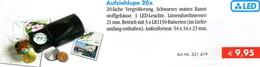 20x Lupe Vergrößerung LED-Licht Aufziehlupe Neu 10€ Prüfen Ua Briefmarken Münzen Paper Money LEUCHTTURM Offer Black - Plaster Models