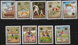 SP 051) Burundi MiNr 858-866 O: Olympia1972 München: Leichtathletik, Turnen, Radfahren, Fußball, Gewichtheben - Estate 1972: Monaco