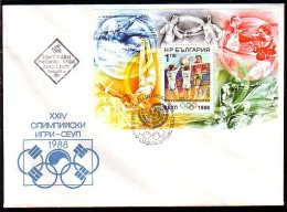 BULGARIA / BULGARIE - 1988 - Jeux Olimpiques - Seoul´88 - FDC - Bl - Volleyball