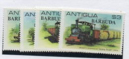 Sello Nº 503/6 Barbuda - Treni