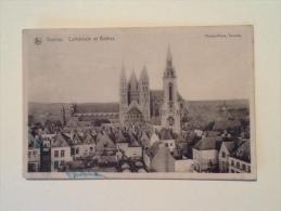 TOURNAI CATHEDRALE ET BEFFROL DEL 1921 VIAGGIATA XX - Tournai