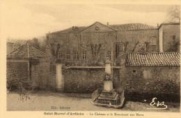 61.  SAINT MARCEL D' ARDECHE - Le Monument Aux Morts Et Le Château - France