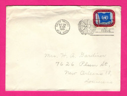 Enveloppe FDC - Envoi Vers Nouvelle-Orléans - 1951 - Cachet United Nations - New York - 1951-1960