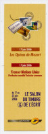 Marque-pages--2006--Salon Du Timbre & De L'écrit--Opéras Mozart--France-Nations-Unies - Bookmarks