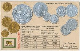 La Perse Gold And Silver Coins Monnaies Iran Gaufrée - Irán