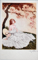 ART DECO - Illustrateur NAILLOD- CPA - Femme Regardant Des Anges, Angelots - Naillod