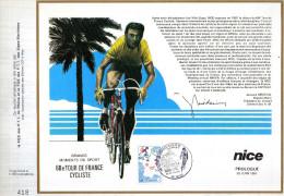 Feuillet Tirage Limité CEF Grands Moments Du Sport 68e Tour De France Cyclisme Vélo Cycliste Nice Prologue - Ciclismo