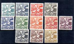 Curaçao 1931, Mercure, PA 4 / 15** (pas 7A – 11*), Cote 57 € - Curacao, Netherlands Antilles, Aruba