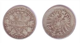 Germany 1 Mark 1880 D - [ 2] 1871-1918: Deutsches Kaiserreich