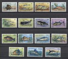 St.Vincent Fishes Poissons Peces Fische 1979 Mi#544-558 MNH - Pesci