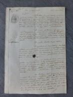 17 Saint-Jean-d'Angély 1856, Halles De Brizambourrg, Procès Sicard Epegnoux ? , Ref 228 - Documents Historiques