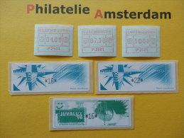 Luxembourg 1983-98, ATM / FRAMA: Mi 1, 4, 5, ** - Vignette