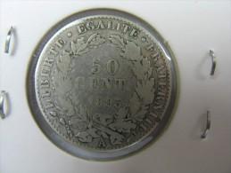 FRANCE 50  CENTS SILVER 1895 - Francia