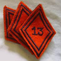 Insigne De Troupe Du 13 ème RA Régiment D´Artillerie / Losange Modèle 1945 - Armée De Terre
