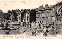 LIBAN - BAALBEK  vue g�n�rale de la grande cour