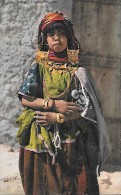CARTE POSTALE ORIGINALE ANCIENNE : JEUNE FILLETTE INDIGENE - Algérie