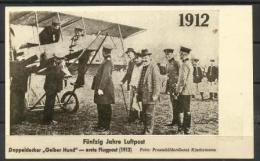 GERMANY - 1912 First Year Of Airmail Postcard (mint) - Germany